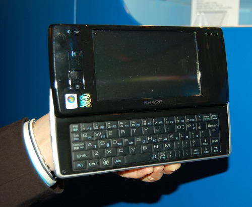 Here's the D4 MID from Sharp. Has a 5-inch screen (1024 x 600), 1GB memory, 40GB HDD, Wi-Fi, Bluetooth and Windows Vista.