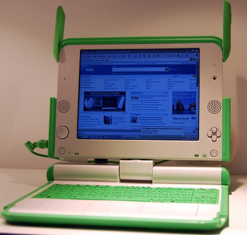 Last but not least is the OLPC, which as you all know, is now running on Windows XP (as you can see).