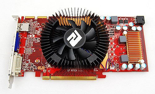 There's nothing outstanding about the card (other than the PCS cooler) that tells you its a Radeon HD 4830 rather than a HD 4850. It still requires a 6-pin connector to power up, and like the HD 4850, has two CrossFire connectors.