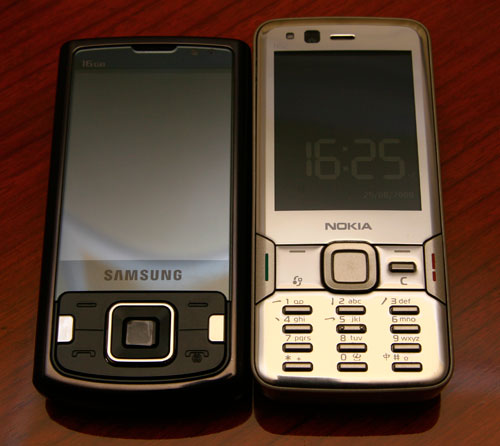 The Samsung innov8 isn't that big as compared to the Nokia N82. It's about half a centimeter shorter than the N82 when it's fully closed.