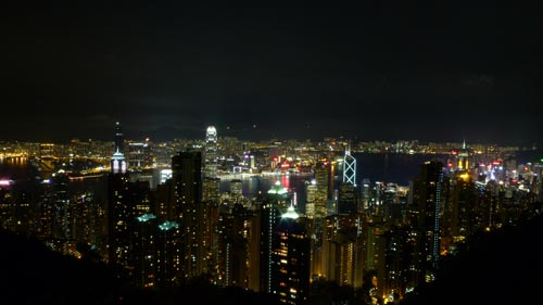 Sample shot at ISO100 from Victoria Peak. Taken with a LX3 pre-production unit.