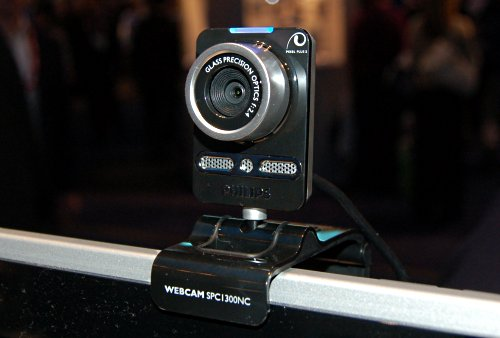 Philips new flagship webcam, the SPC1300-series features a 1.3-megapixel sensor and can take 6-megapixel interpolated still images. It also features noise canceling using the two directional microphones built-in. Custom video chatting that allows one to change their background as if you're in a different location. Yes, we know the Mac had it first.
