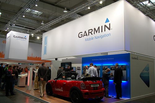 Garmin's Booth had plenty of navigation devices as usual.