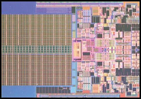 Here's the Penryn die photo. It is said that this dual-core processor has 410 million transistors! 45nm process technology will surely be necessary to maintain current thermal and power envelopes and thankfully Intel is in a position to deliver that.