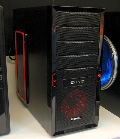 This is a new mid-tower chassis by Enermax called Helios. It's a typical design internally and the fancy LED fan you see in the front is that of the Apollo case fan.