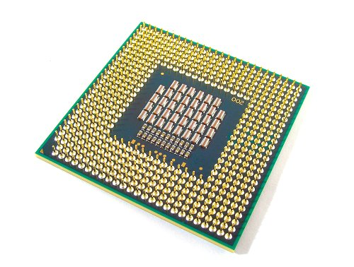 Back shot of the Intel Core 2 Duo T7700 processor.