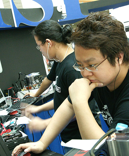 Nothing like listening to music to get into the groove for overclocking?