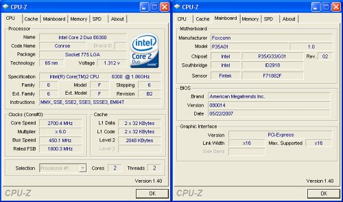 CPU-Z overclocking screenshot. Click for full sized image.