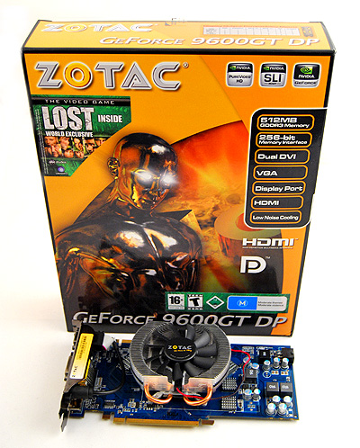 Like all other Zotac cards, the Zotac GeForce 9600 GT DP comes in Zotac's familiar orange box.