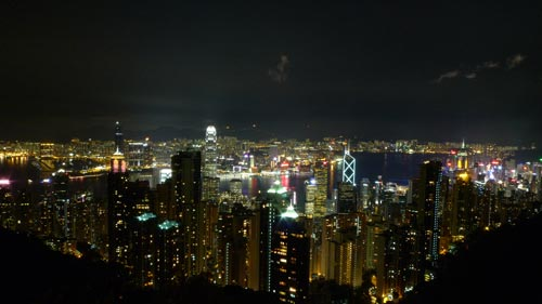 Sample shot at ISO200 from Victoria Peak. Taken with a LX3 pre-production unit.