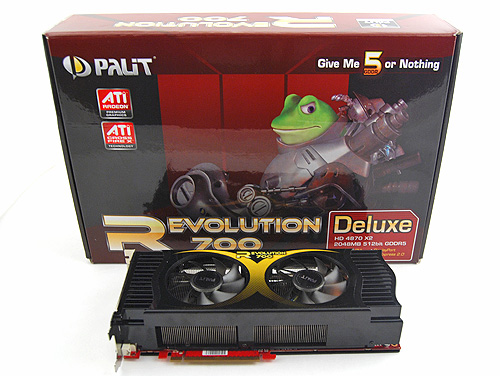 The Palit Revolution 700 Deluxe is our largest card on show. It also came in the largest box, and as usual, Frobo fronts the cover.