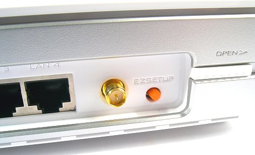 WL-700gE EZSetup button that triggers the setup wizard.