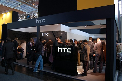 HTC's booth was buzzing with people.