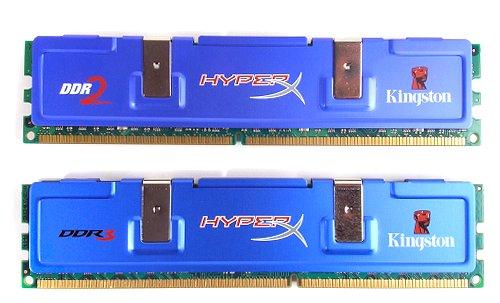 Pin layout differences between DDR2 and DDR3 memory.