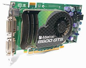 The Albatron GeForce 8600 GTS 256MB.