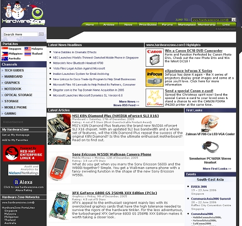- A minor update to the 2004 design and some content placement changes in 2005 has pretty much remained the same till present day as this design/layout faithfully served our needs well.