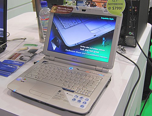 The 12.1-inch Acer Aspire 2920Z costs just $799 and sports a Intel T3400 (2.16GHz) processor,2GB DDR2 RAM and 250GB HDD. Good value for times like these.