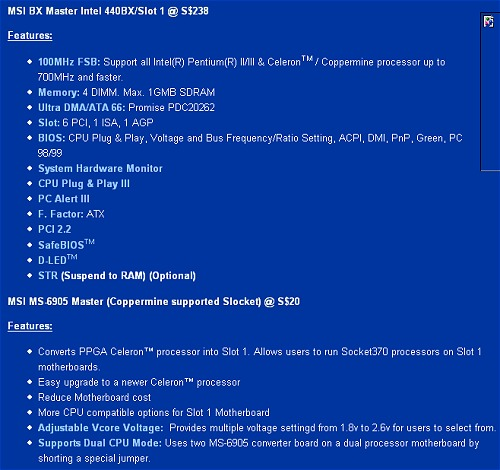 Check out the price and specs of the MSI BX Master motherboard and Slocket!