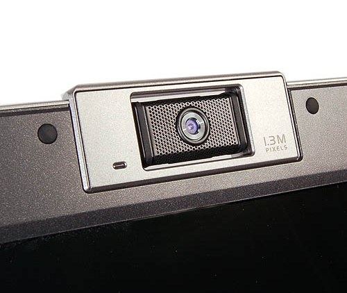 ASUS didn't forget to include a swiveling 1.3-megapixel webcam, which is a well-known feature of the W5 notebook series.