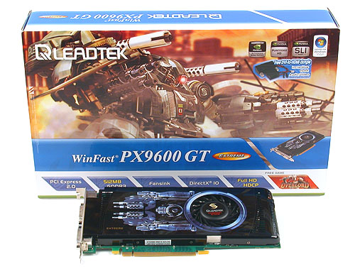 As usual, Leadtek's Extreme version is a decent overclocked GeForce 9600 GT with a solid package.