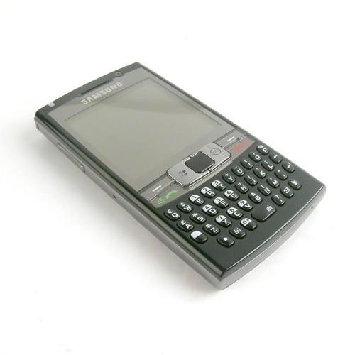The Samsung i780, with full touch screen capabilities coupled with a 37-key QWERTY keyboard.