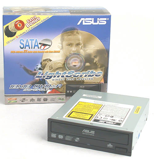 A SATA based 18x DVD burner? ASUS' latest DVD writer is certainly keeping abreast of the times.