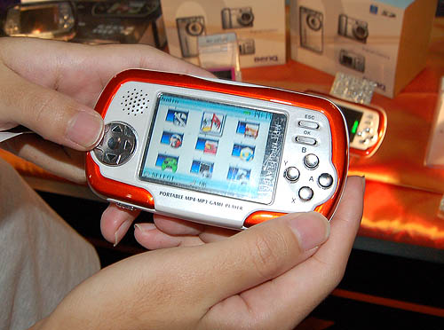 The MP3 Game Player from Active Foto is a pretty funky device that can play movies, MP3 files and even run emulated games. The 512MB and 1GB version goes for S$115 and $135 respectively.