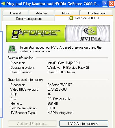 NVIDIA GPU model and driver version used to test PureVideo HD.