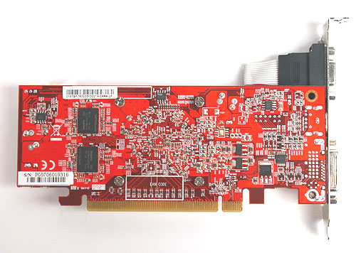 Some of the memory chips were mounted on the other side of the card.