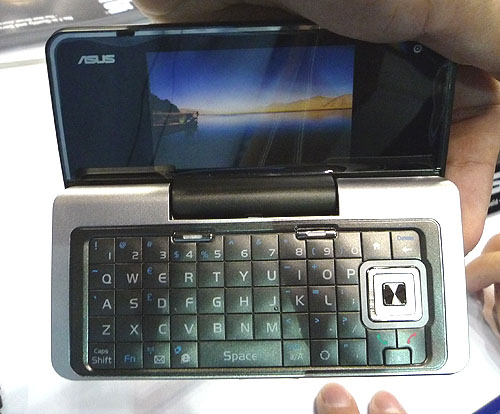 With dual screens, this ASUS M930 3.5G smart phone has a full QWERTY keypad for quick input. The large, wide screen and 3.5G speeds make it suitable for Internet use. Users can choose either numeric or the QWERTY keypad for input. Including its free gifts of a Bluetooth headset, 2GB microSD cards and a protection case, this phone costs $898.