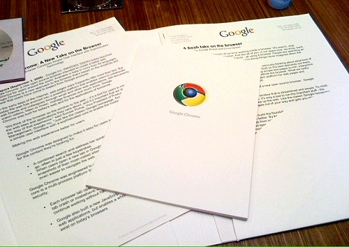 The press kit from Google with the comic book in paper! (This is ours, so you'll just have to make do with the one available online. Sorry!)