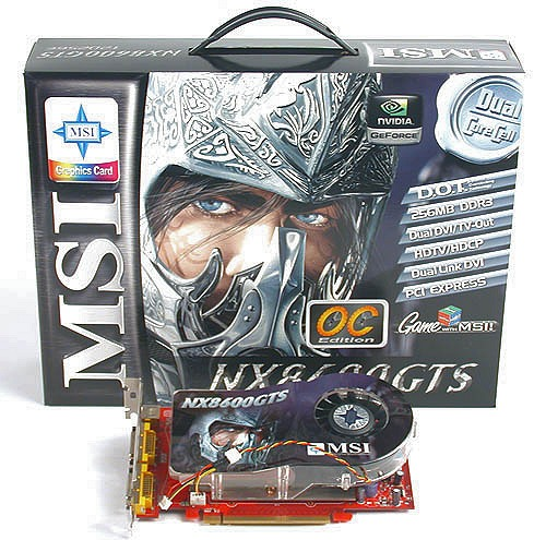 The overclocked GeForce 8600 GTS from MSI.