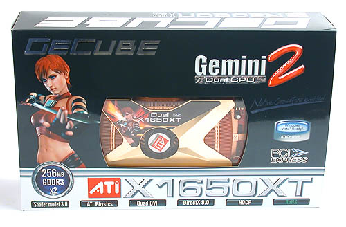 GeCube's attempt to combine two Radeon GPUs onto a single PCB - the Gemini 2, with two Radeon X1650 XT cores integrated