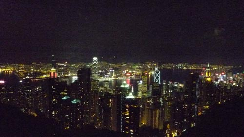 Sample shot at ISO3200 from Victoria Peak. Taken with a LX3 pre-production unit.