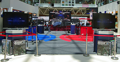 Funan DigitaLife Mall was where we were going to find the best PC tech enthusiast of the region. Here's the competition venue all set up and ready the morning of the Grand Final.