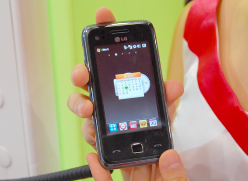 The LG Joy GM730 sports the Windows Mobile 6.1 Professional OS, with a touch of S-Class UI on it. The device is slated for an update to the new Windows Mobile 6.5 OS when it's available in the market.