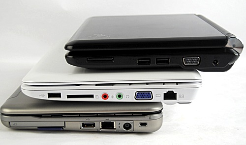 All three units were pretty much the same thickness, so those looking for a super slim netbook will be out of luck for now.