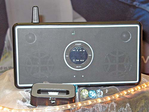 Qool was also showing off a slightly newer variant of their existing iPod speaker systems.