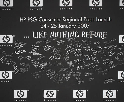 HP's regional consumer press launch was very well attended, going by the number of signatures by journalists.