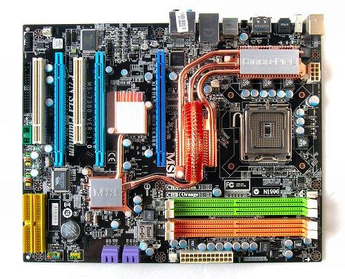 The MSI P7N SLI Platinum motherboard.