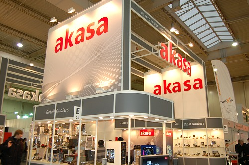 Akasa's booth had several cooling related peripherals, but we zoom-in on a selected few noteworthy items.