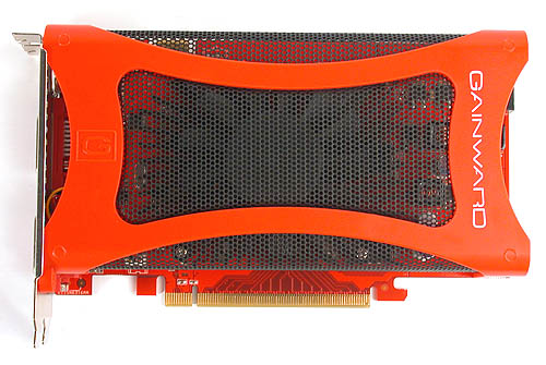 We have seen this design before from Gainward, a large meshed shroud over the quiet dual-slot cooler.