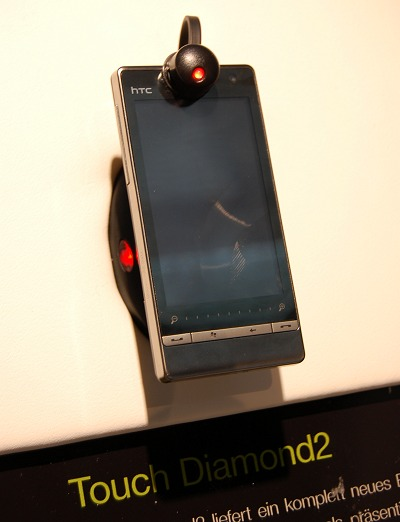 The real attraction was the sleek HTC Touch Diamond 2