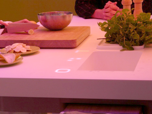 With this concept, Philips hopes to take advantage of the way people behave, react and act around the kitchen, or more specifically the kitchen table. Eventually, Philips would like to educate the public in becoming more responsible and conscious of the way they consume their water, electricity, gas and food.