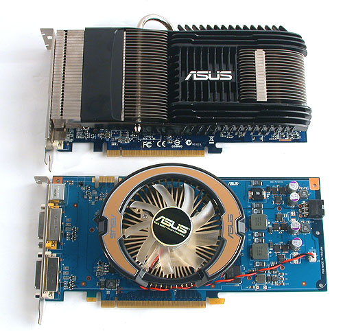 The two graphics cards differed most in the kind of coolers used.