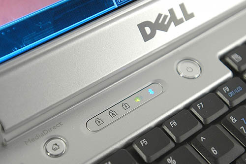Another shortcut button on the far left end of the notebook leads you straight to Dell's propriety Media Connect software. A row of icons just above the keyboard tells you whether Wi-fi and Bluetooth is on.