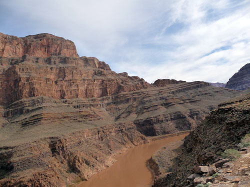 A view of the canyon from halfway down. While the camera tended to over saturate images a tad, colors remained accurate.