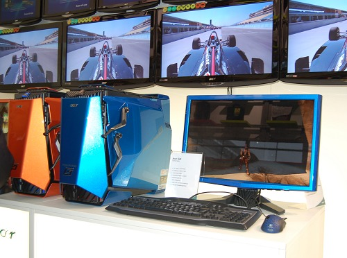 - the Predator gaming machines along with their color-matched Acer G24 gaming monitors.