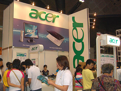 There are a couple of Acer booths scattered around the exhibition hall so you may see the familiar green a few times.