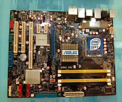 The ASUS P5K WS motherboard is a workstation class Intel P35 platform motherboard. PCI-X support is the main differentiator here.